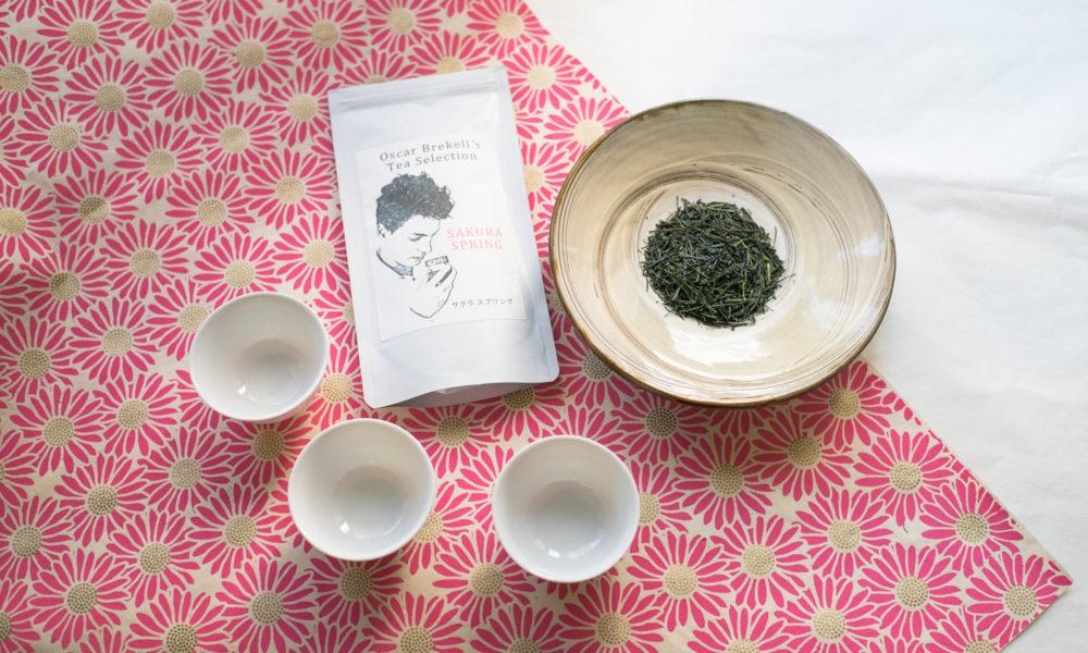 桜のお茶と桜